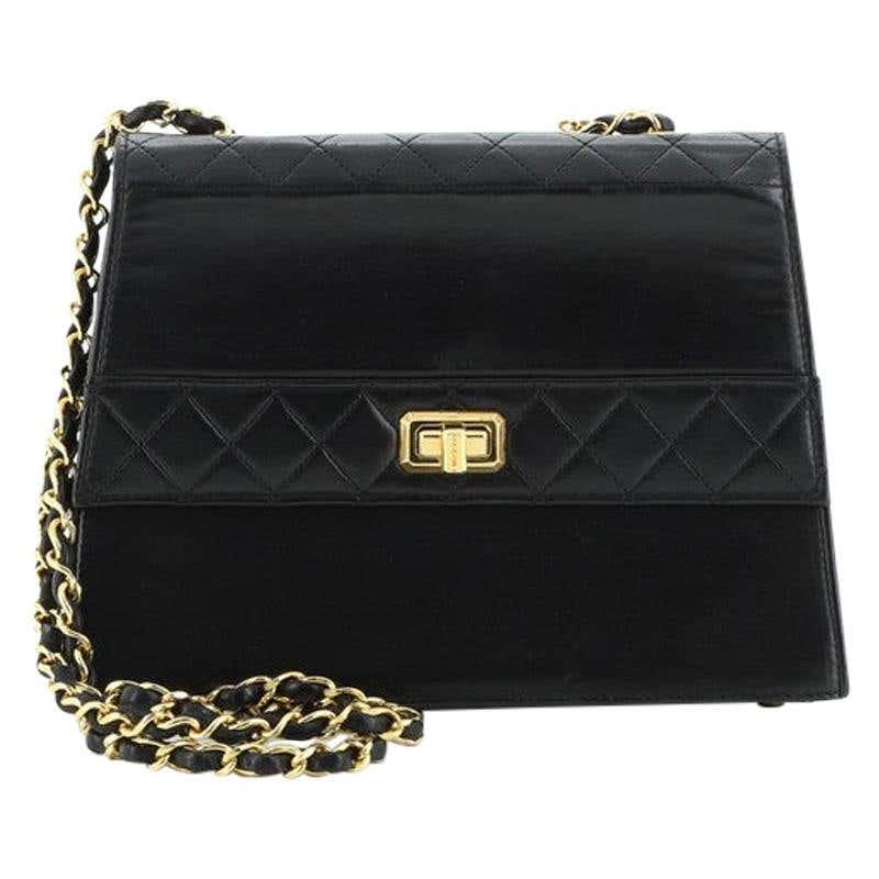 KC Concepcion, Chanel Vintage Trapezoid CC Flap Bag Leather Small