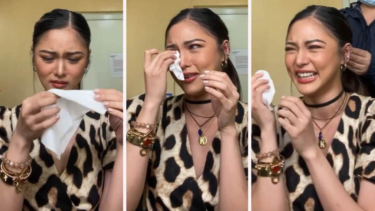 Kim Chiu crying