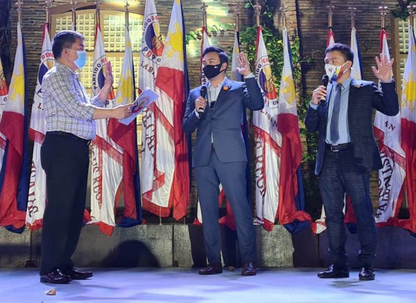 Manny Pacquiao, Koko Pimentel, Lord Allan Velasco, PDP-Laban oathtaking