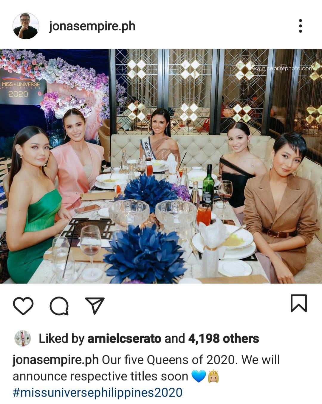 Miss Universe 2020 Top 5 thanksgiving dinner