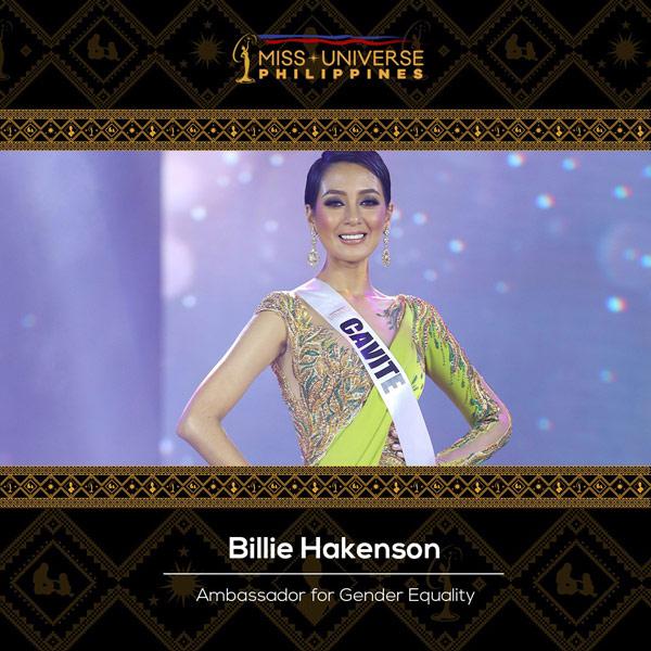 Billie Hackenson Ambassador for Gender Equality