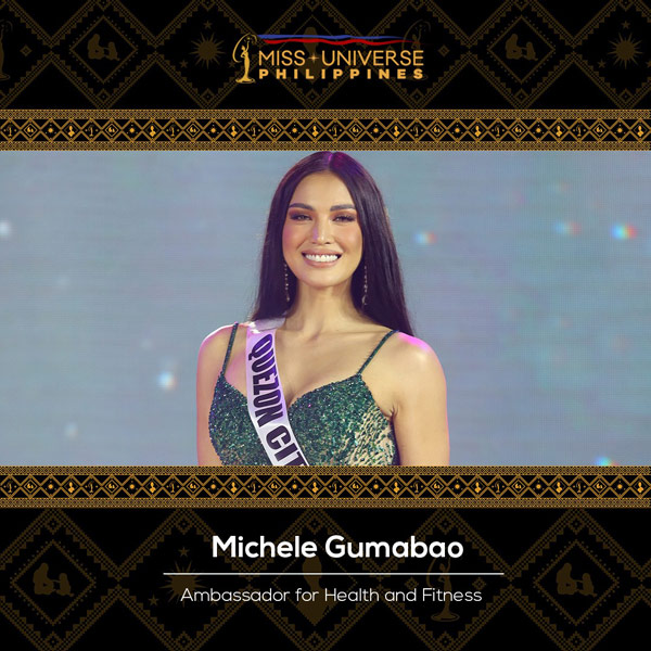 Michele Gumabao Ambassador for Health and Fitness