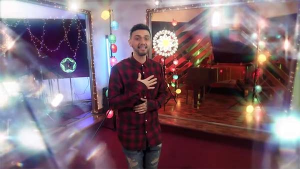 Billy Crawford sings theme song of TV5 Christmas station ID 2020.