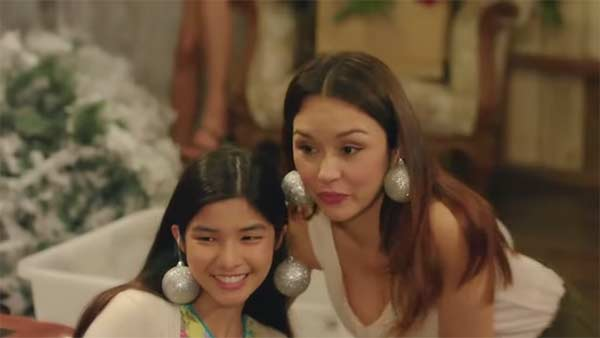 Beauty Gonzales in a scene from Paano Ang Pasko shown at TV5 Christmas station ID