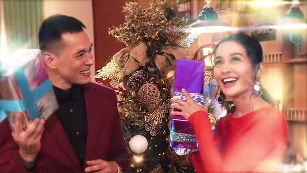 Jake Cuenca and Kris Bernal in TV5 Christmas station ID
