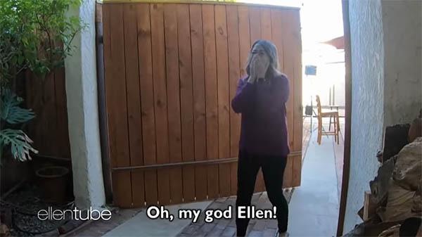 Ellen DeGeneres Flor Roz The Ellen DeGeneres Show