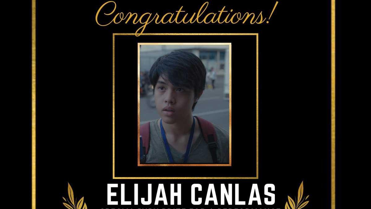 Elijah Canlas wins Special Jury Prize at the 4th Pista ng Pelikulang Pilipino