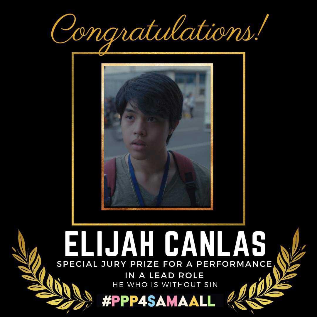 Elijah Canlas wins Special Jury Prize from 4th Pista ng Pelikulang Pilipino.