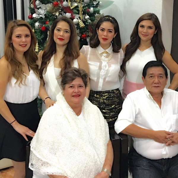 Vina Morales with Parents and Siblings