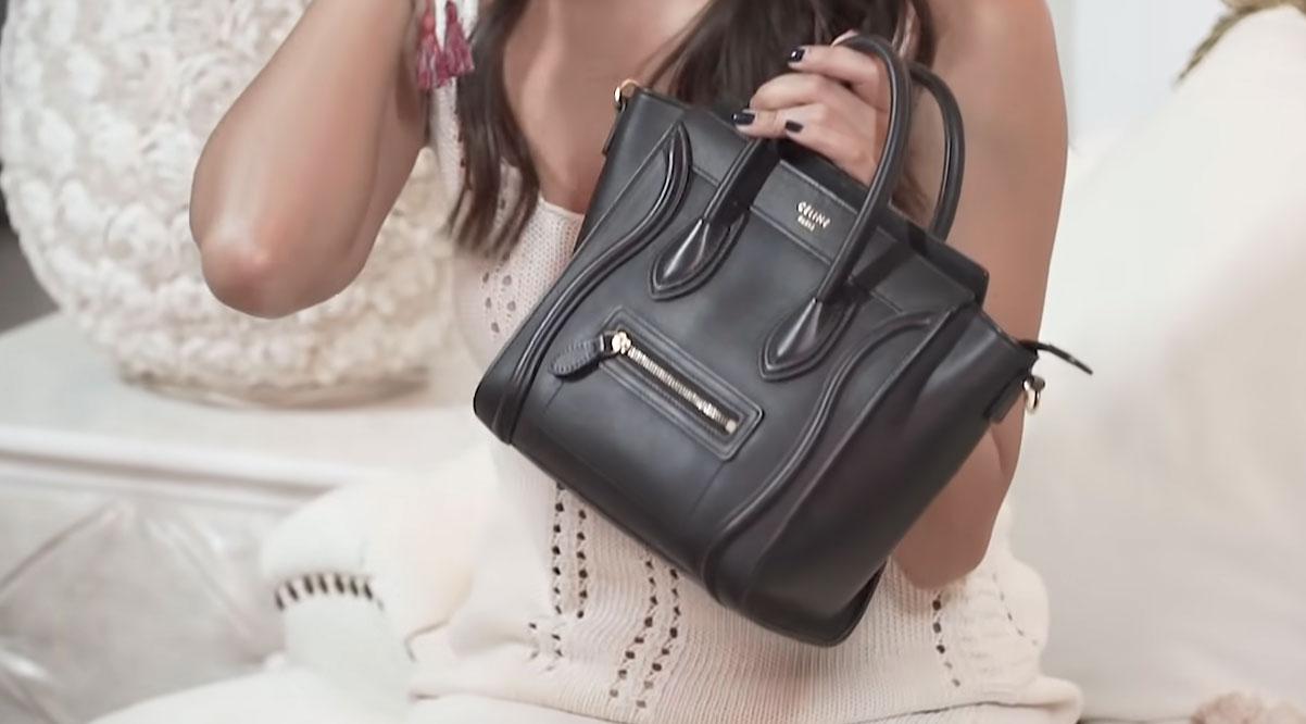Kathryn Bernardo showing her black Celine Nano Luggage