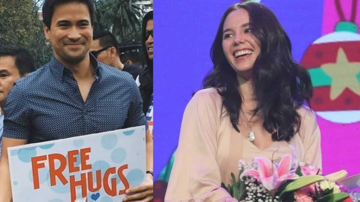Sam Milby surprises girlfriend Catriona Gray with a birthday greeting at Sunday Noontime Live.