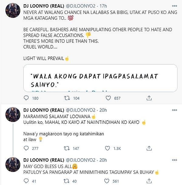 DJ loonyo tweets