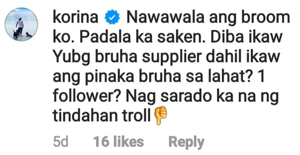 korina sanchez reply to basher