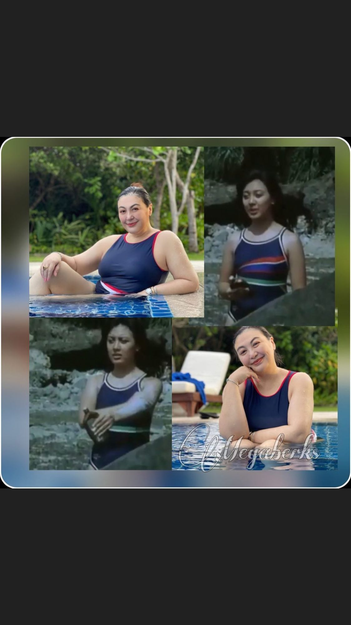 Sharon Cuneta wearing swimsuit