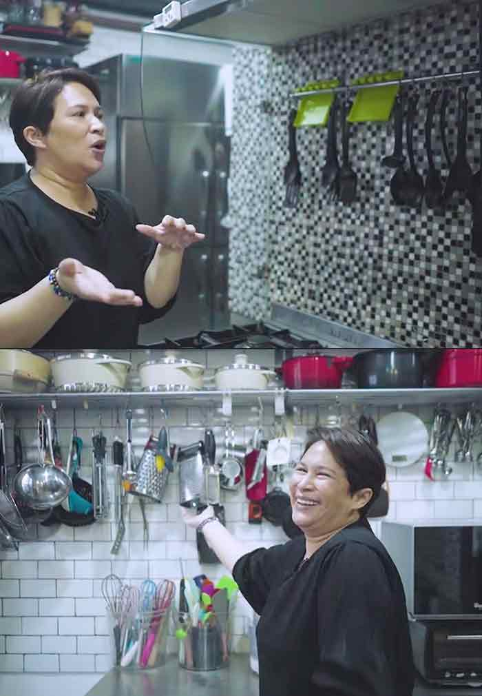 Janice De Belen gives a virtual kitchen tour