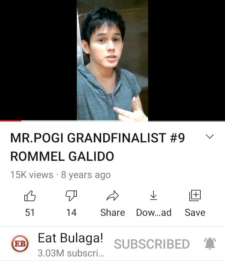Mr. Pogi contestant Rommel Galido