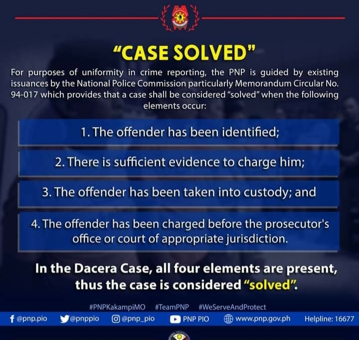 PNP definition of case solved