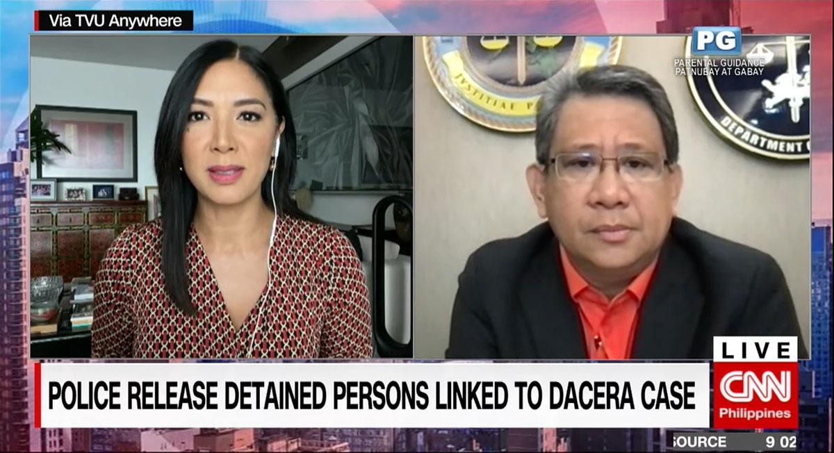 pinky webb interviews DOJ prosecutor general benedicto malcontento in The Source