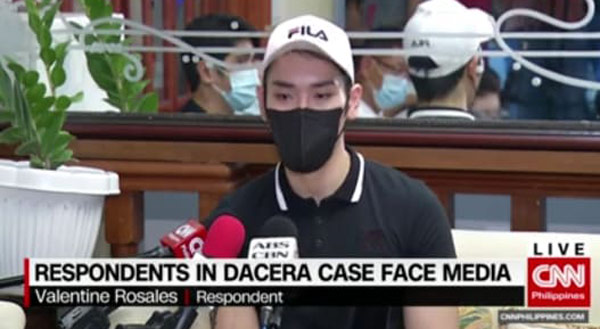 Valentine Rosales Christine Dacera case