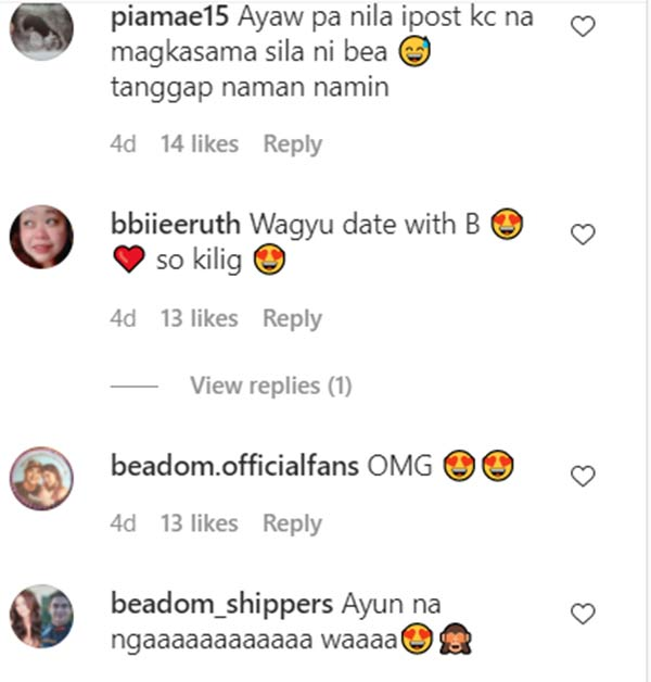 instagram comments: netizens speculate bea alonzo as the mysterious girl