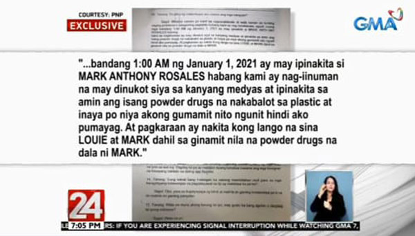 John Paul dela Serna statement Christine Dacera death