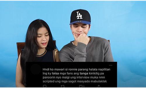 youtube screengrab: loisa and ronnie answer bashers
