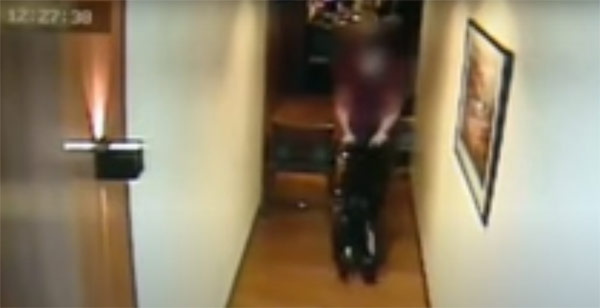 CCTV footage: Christine Dacera wheelchair