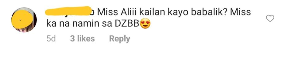 netizens tell ali they miss her in radio program