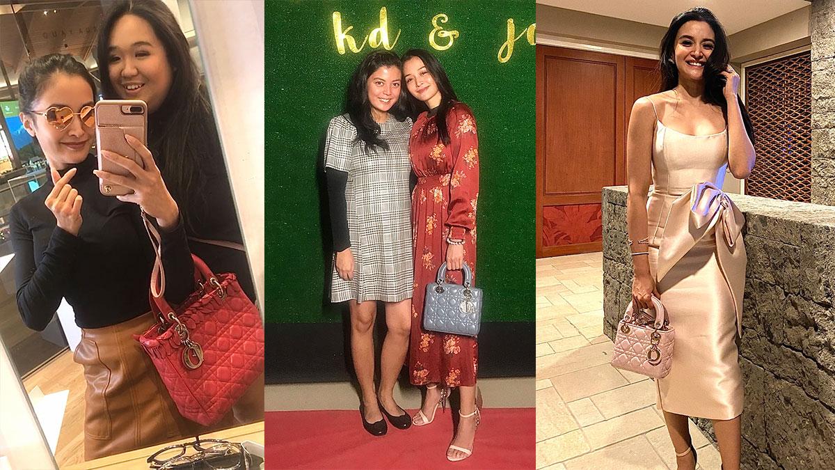 Kris Bernal with her Lady Dior bag