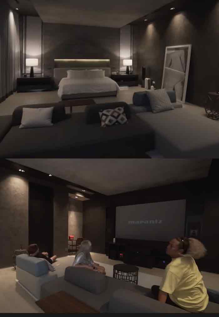 Vice Ganda entertainment room inside the master bedroom