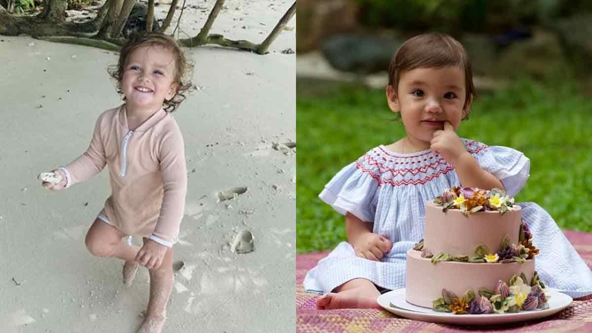 Alfie Burnand and Thylane Bolzico babies