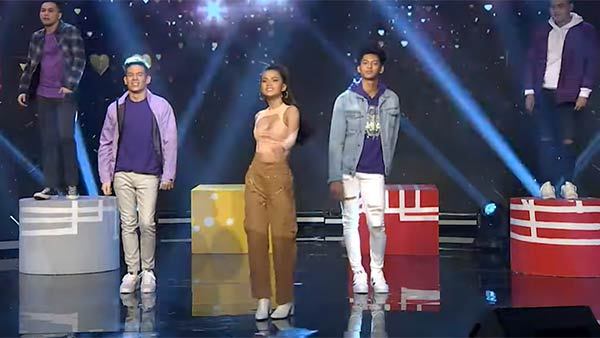 Jake Ejercito, Maris Racal, and Ricci Rivero in Sunday Noontime Live