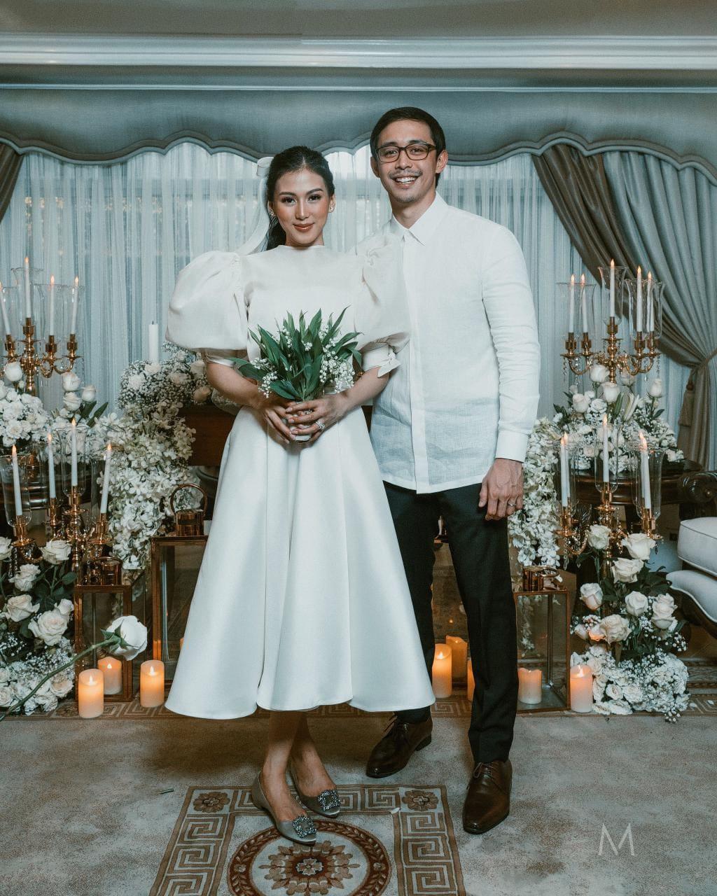 Alex Gonzaga and Mikee Morada wedding photo