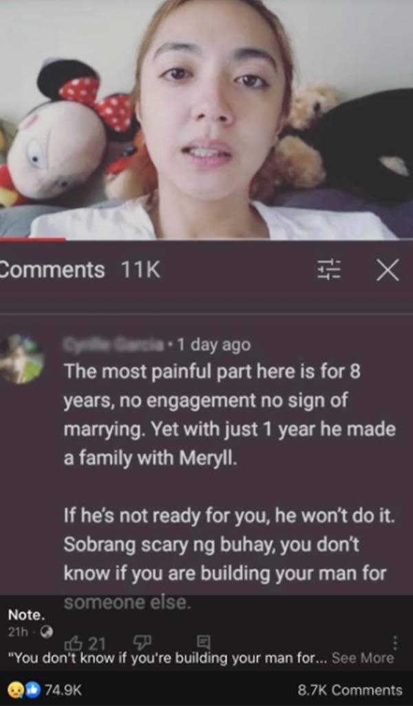 netizen comments on crisha uy vlog about joem bascon