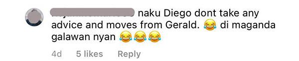 netizens warn diego loyzaga not to be like gerald anderson