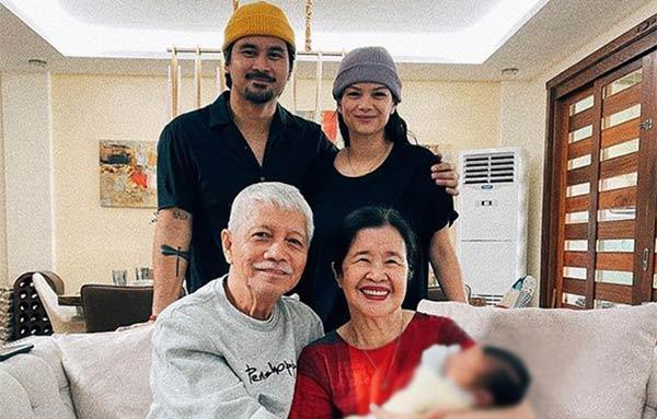 Meryll soriano with Joem bascon parents
