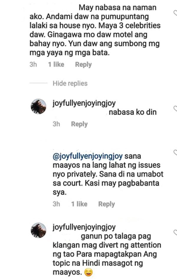 Joy Reyes answer on Jomari Yllana allegations