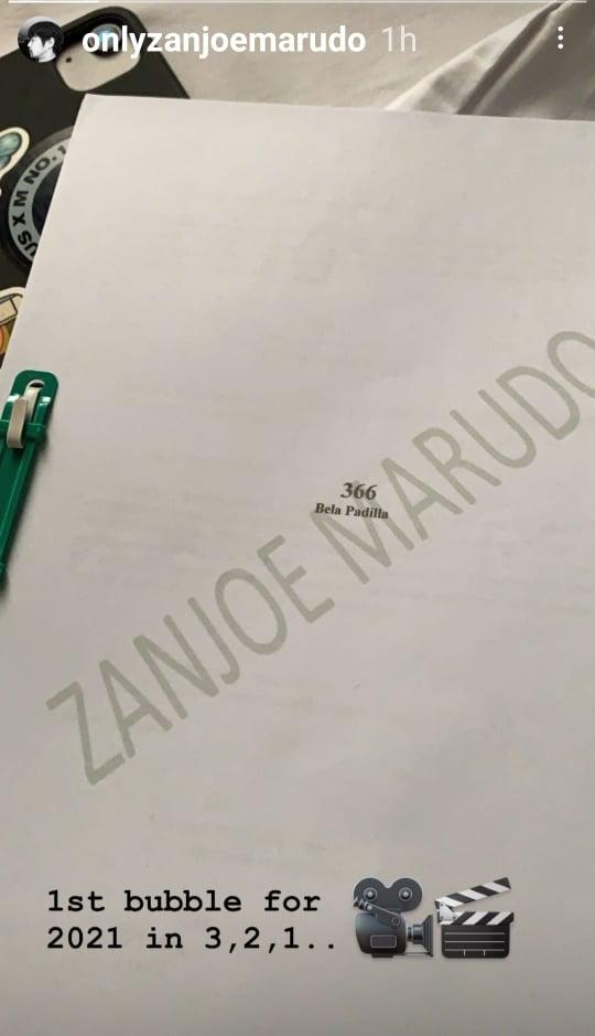 Zanjoe Marudo IG story