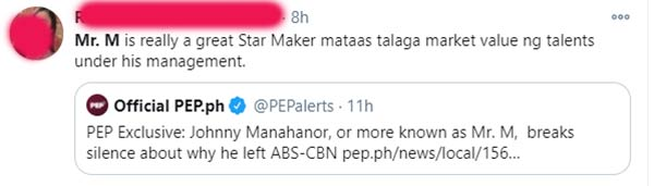 netizens salute Mr.M for being a reliable star builder