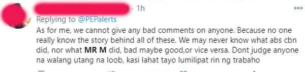 netizen requests to avoid giving hasty judgements