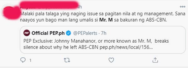 netizens reaction on pep.ph article about Mr. M