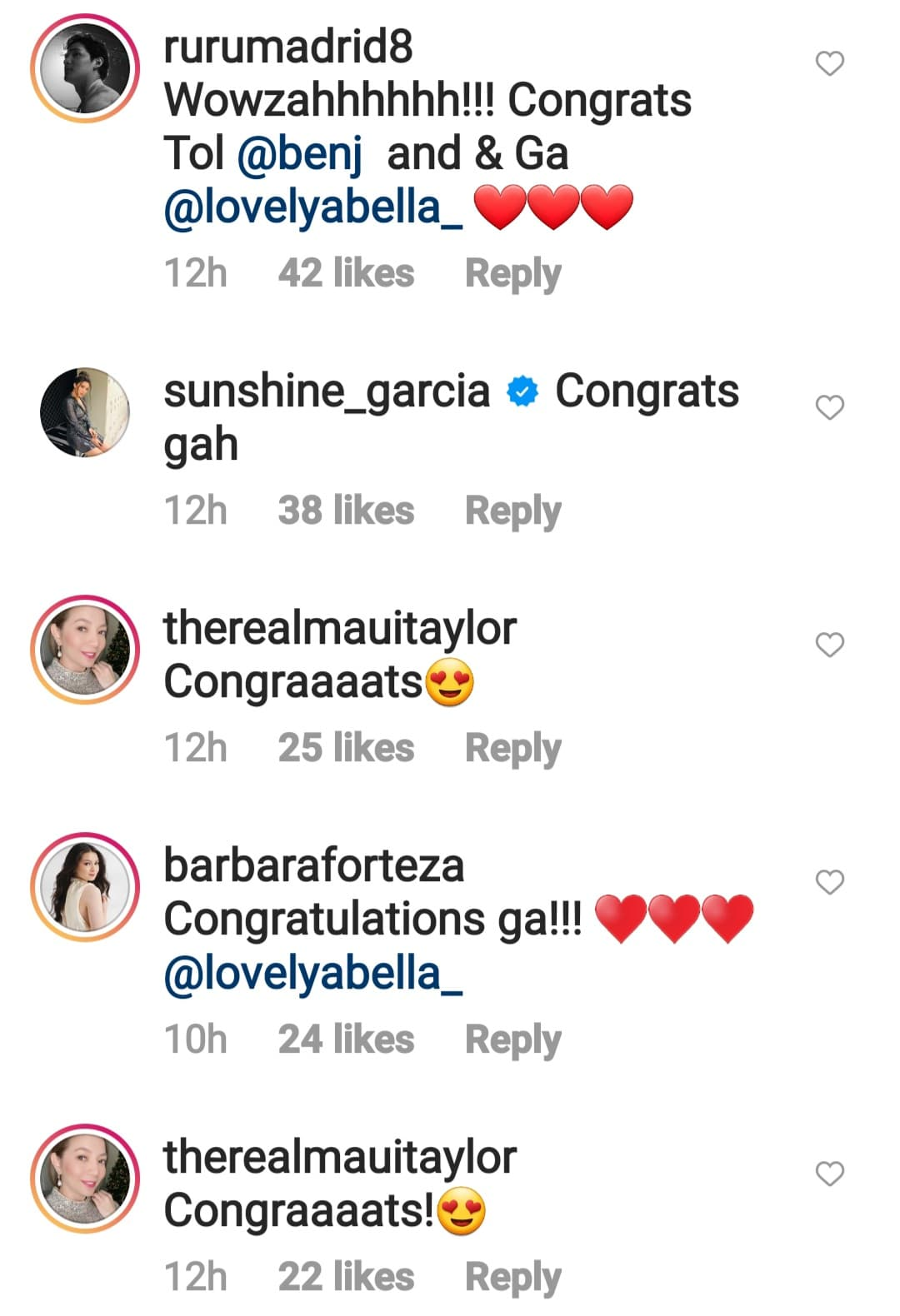 celebrity friends posts congratulatory messages to newly weds