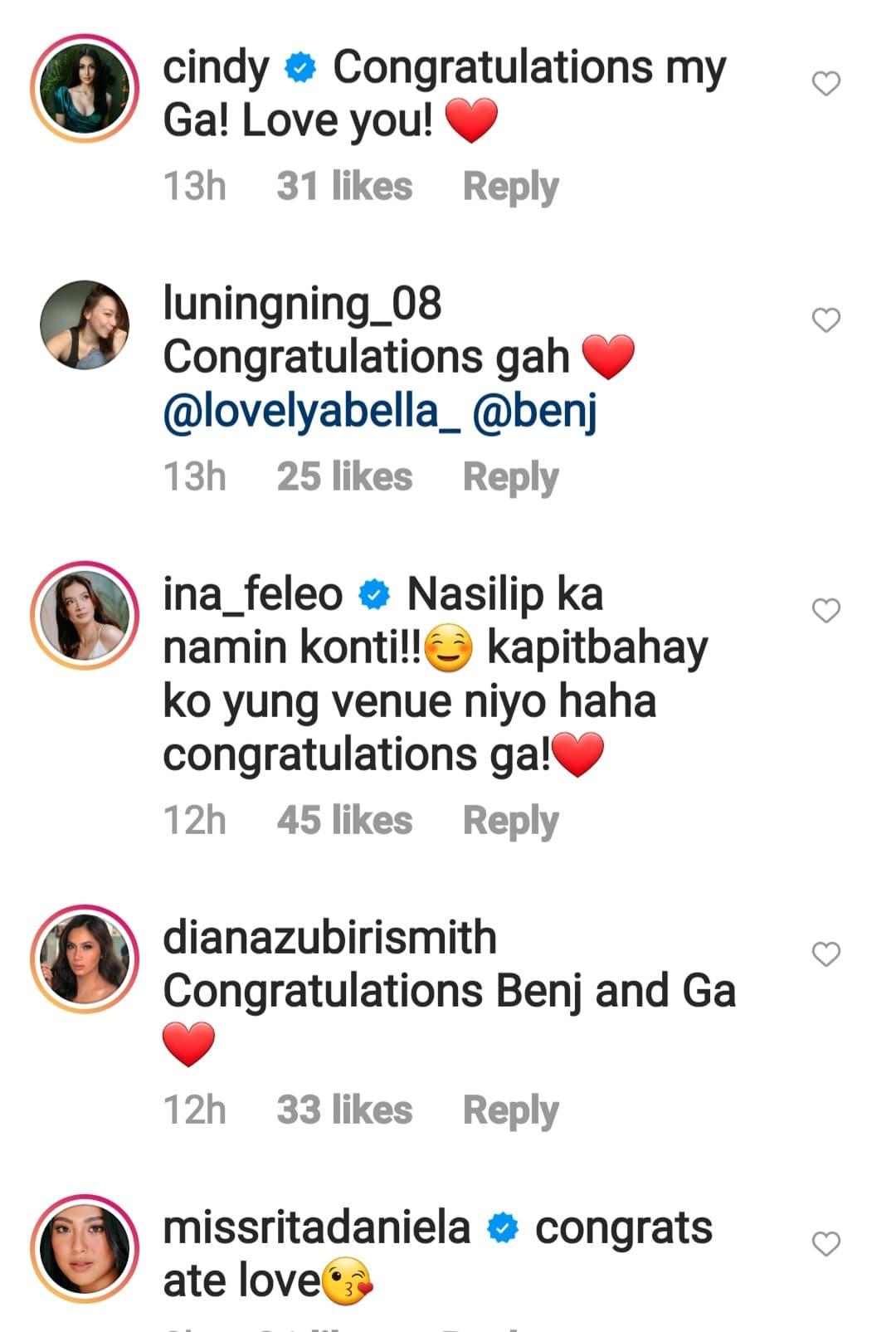 celebs including diana zubiri congratulates newly weds