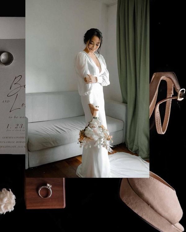 lovely abella wearing wedding gown gifted by kathryn bernardo