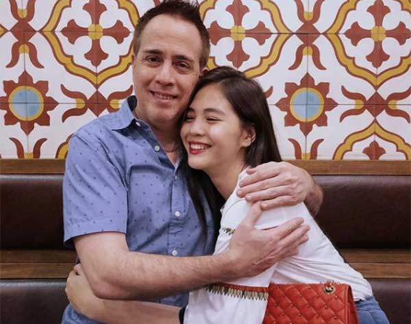 Janella Salvador with her father Juan Miguel Salvador.