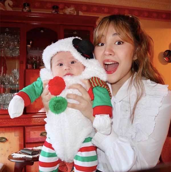 Janella Salvador with her son Jude Paterson.