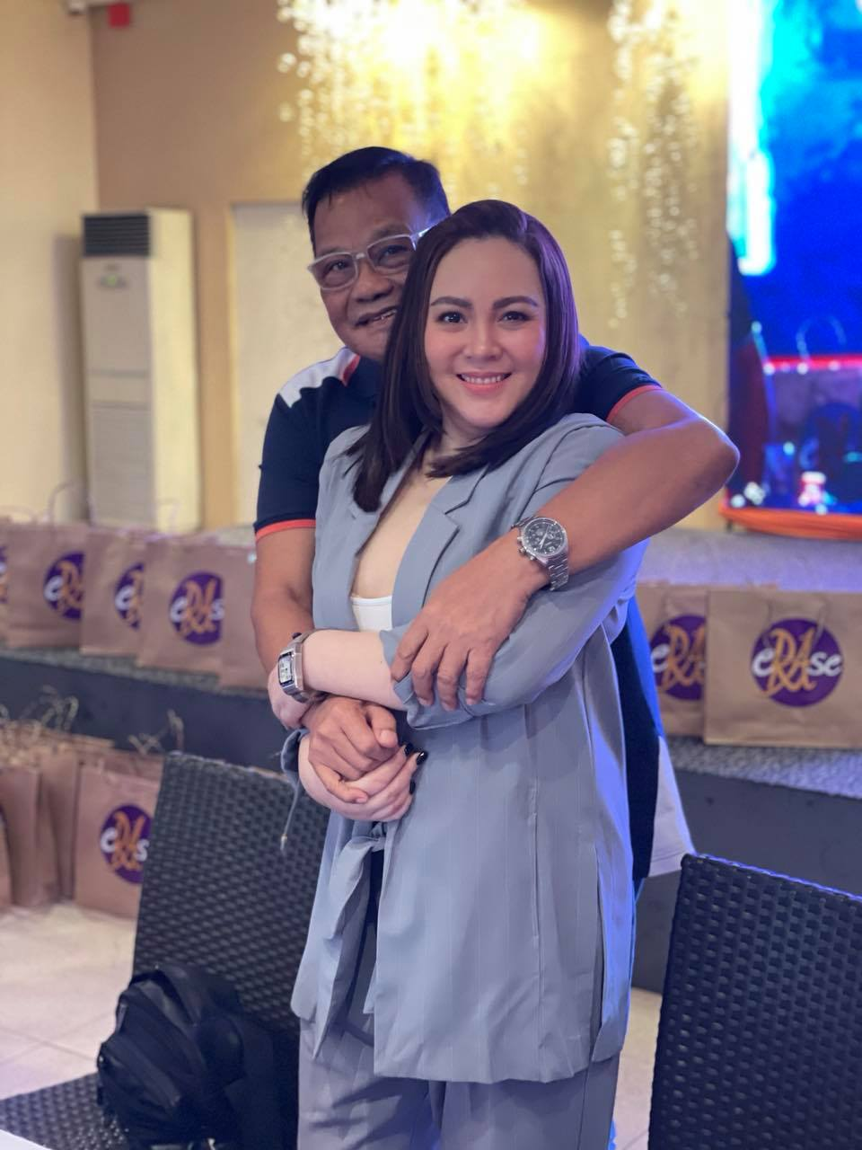 Claudine barretto with her new manager arnold vegafria