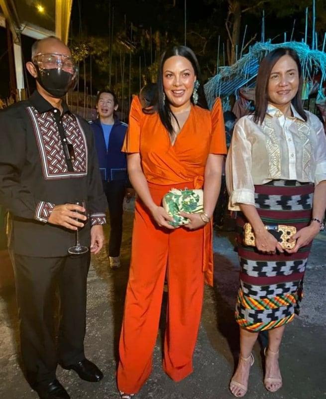 baguio city mayor benjamin magalong and wife arlene photo op with actress KC concepcion