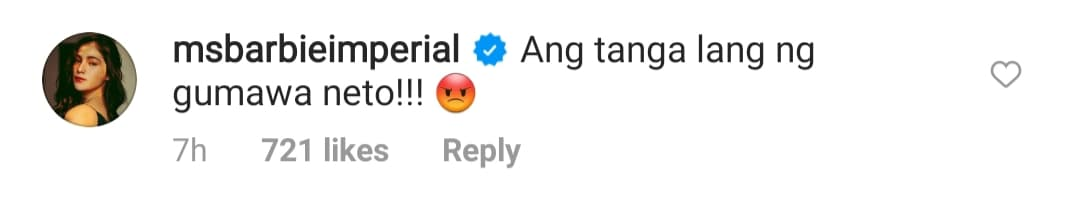 barbie imperial comment