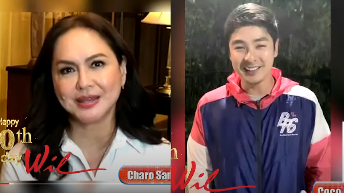 charo santos and coco martin birthday greeting to willie revillame